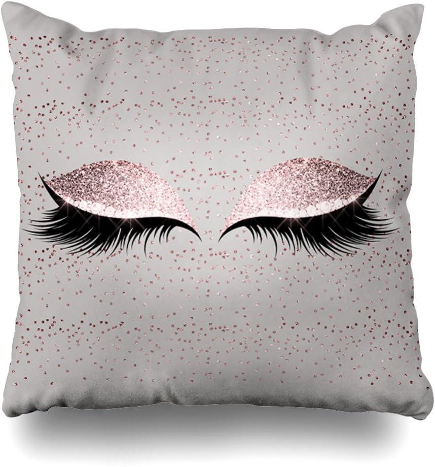 Glitter Eyelash Lipstick Pillow Case