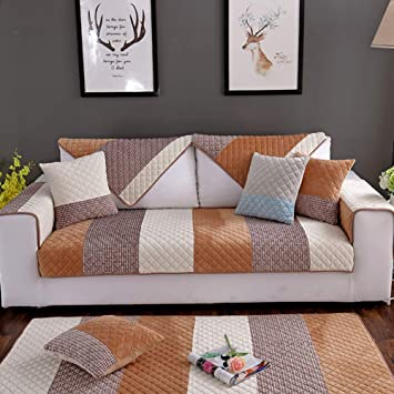 Amazon.com: L&VE Suede Sofa Covers, Crafted Super Soft ...