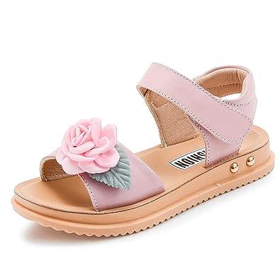 5778edd1c8d7 Genuine Leather Flower Girls Sandals Summer Kids Shoe for Girl Princess  Sandal Little Girls Shoe Children