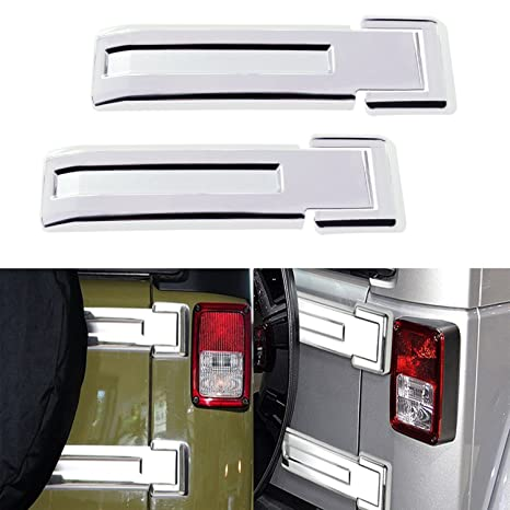 AVOMAR 2pcs ABS Rear Door Liftgate Hinge Covers Spare Tire Tailgate Hinge Trims for Jeep Wrangler /& Unlimited JK 2007-2017