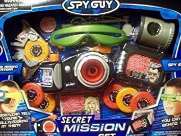 Spy Guy Secret Mission Set Kit de Ojos de espía, 13 Piezas: Amazon ...