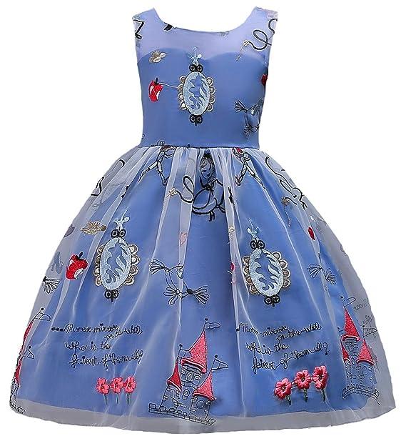 Happy cherry - Vestido Infantil para Niñas Vestido de Dama de Honor Impresión de Dibujos Animados