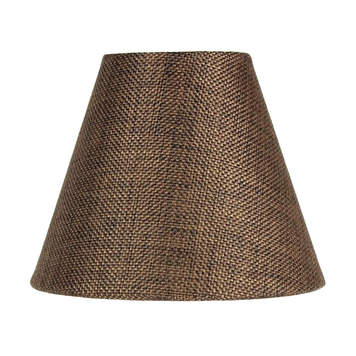 3x6x5 Chocolate Burlap Chandelier Lampshade By Home Concept - Perfect for chandeliers, foyer lights, and wall sconces -Small, Chocolate