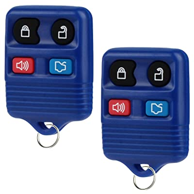 Key Fob fits 1998-2016 Ford Lincoln Mercury Mazda Keyless Entry Remote (Blue), Set of 2: Automotive