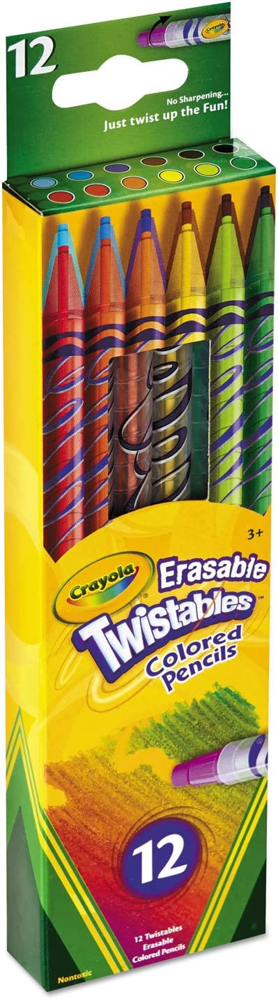 Crayola 12 Count Erasable Colored Pencils 2 Childrens Activity Coloring Books Crayola Twistable Colored Pencil