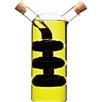 KitchenCraft World of Flavours 2-in-1 Olive Oil Dispenser and Vinegar Bottle - Clear Glass