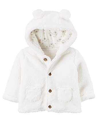 4262da0ad Amazon.com  Carter s Baby 3M-24M Hooded Sherpa Jacket  Clothing