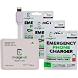 ChargeTab 6 Pack Emergency Portable Charger for On-The-Go Stand-by Power, iPhone Compatible, Pre-Charged Battery Pack with 2