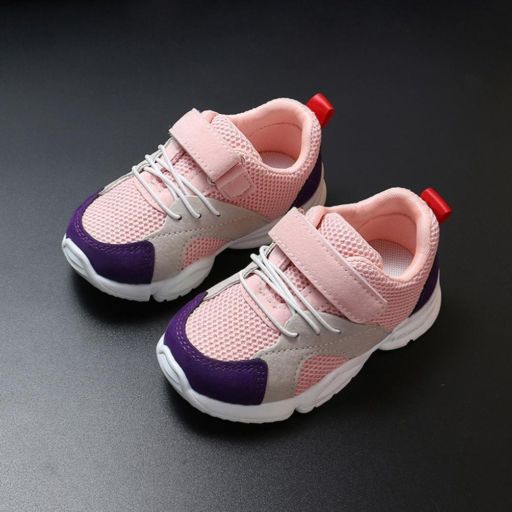 GIRLS PURPLE /& PINK SPORTS TRAINERS SHOES WITH YELLOW ZIG ZAG BY AIR TECH
