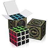 Rubix Cube, Aiduy 3x3x3 Speed Cube Carbon Fiber Sticker for Smooth Magic Cube Puzzles