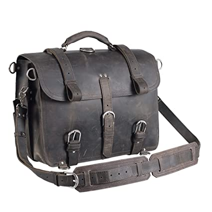 Image Unavailable. Image not available for. Color  Polare Unisex Thick Top  Layer Real Cow Leather Outdoor Shoulder Briefcase 16 quot  Laptop Bag Tote 55c9a0618c74b