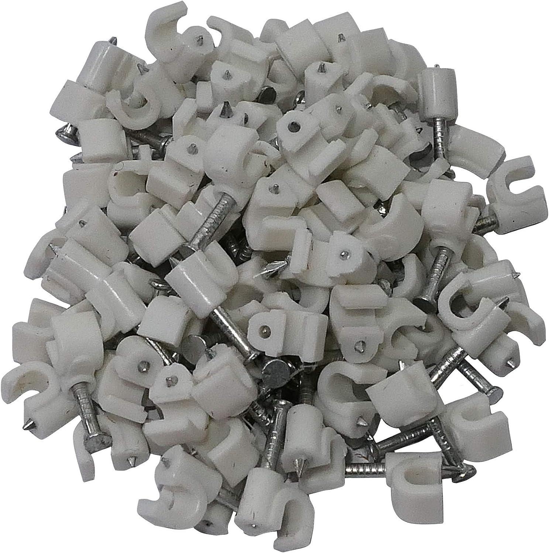 AERZETIX: 100 x Grapas para cable 4mm C1766