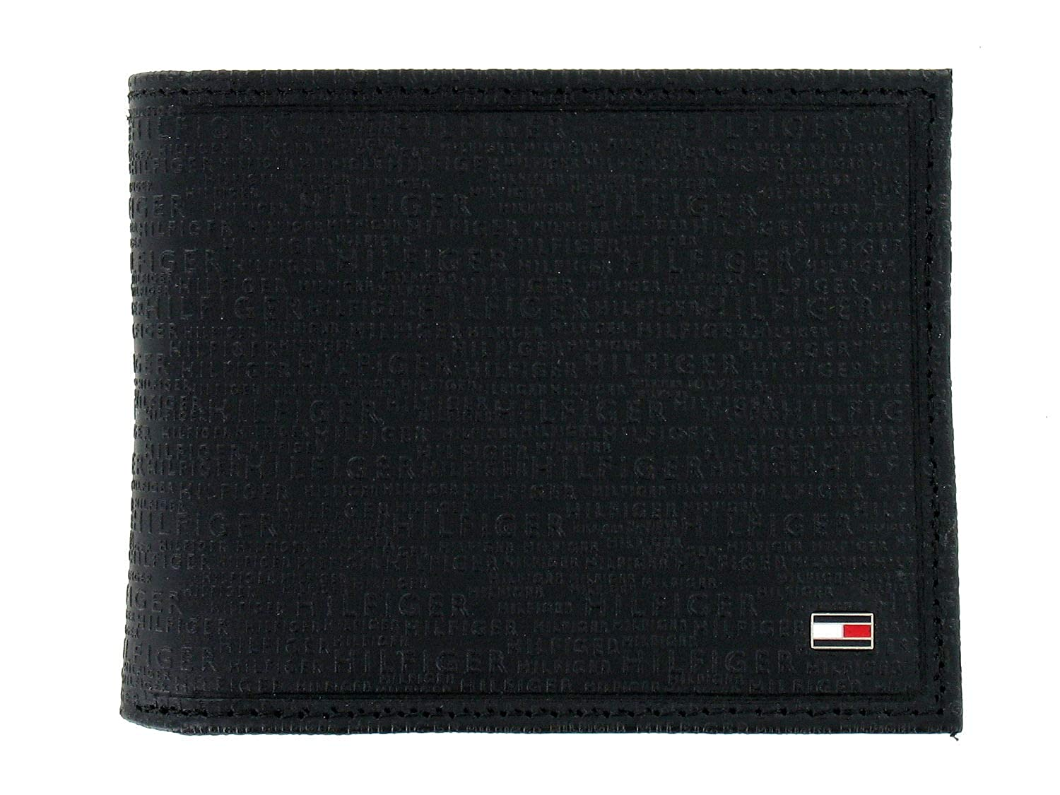 Tommy Hilfiger Mens Black Bi-Fold Wallet at Amazon Men s Clothing store  cba39906a632