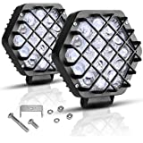 """AUTOSAVER88 5"""" Led Light Bars, 48W 5D Led Pods 4800LM 2018, Offroad Fog Driving Lights, IP68 Waterproof Extra Bright & Heavyduty for Truck Pickup Jeep Boats SUV ATV UTV, 2 years Warranty"""