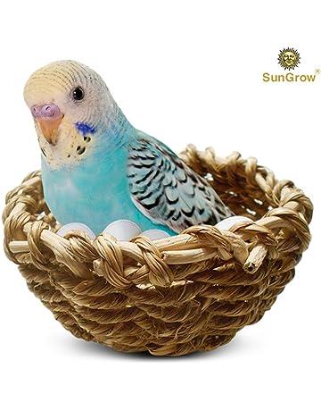 Hot Sale Parrot Bird Small Pet Toy Rattan Nest Bite Swing Stand Birds Cage Accessories Hanging Basket Grass Nests Home & Garden