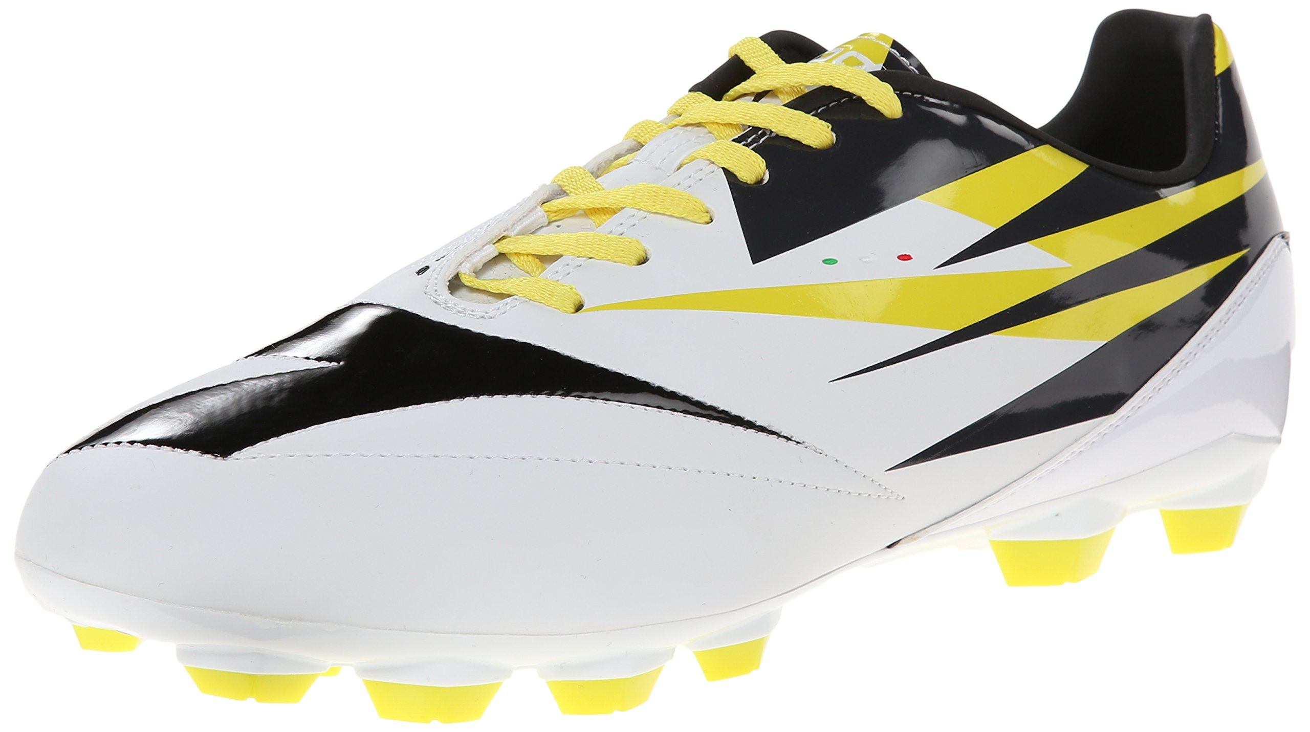 Diadora DD-NA 2 R LPU Soccer Cleat, White/Black/Fluorescent Yellow, 10.5 M US