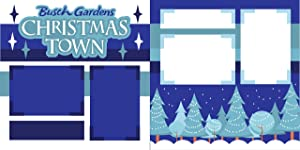 """Busch Gardens Christmas Town"" ASSEMBLED Scrapbook Pages"