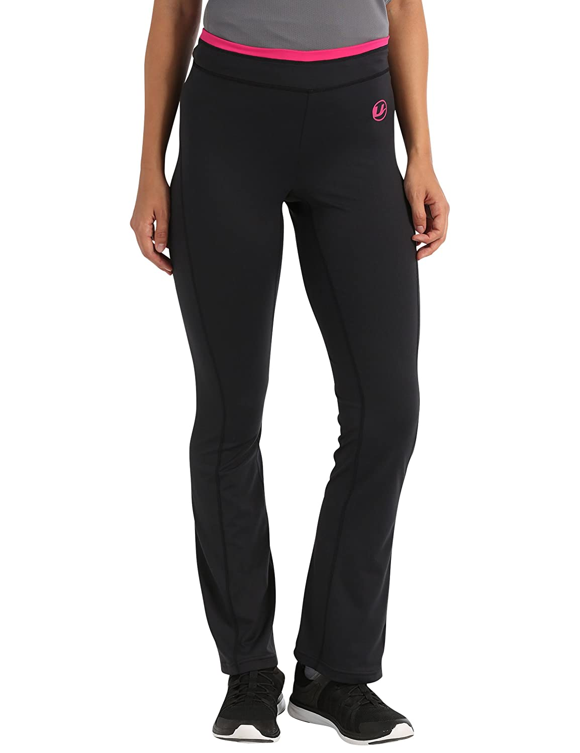 Ultrasport fitness trousers antibacterial and long, ladies jogging pants with quick dry function, several colour combinations available, stretchy and wear-resistant, fashionable sports trousers for women 1009