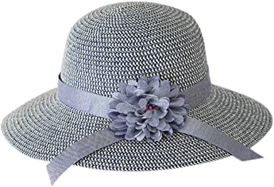 Ladies Church Hats Floral Bowknots Fedora Women Summer Hat Breathable Sun Hats Linen Cotton Hat