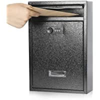 Kyodoled Locking Wall Mount Mailbox,Mail Boxes Outdoor with Combination Lock,Security Key Drop Box,12.59Hx 8.46Lx 3.35W…