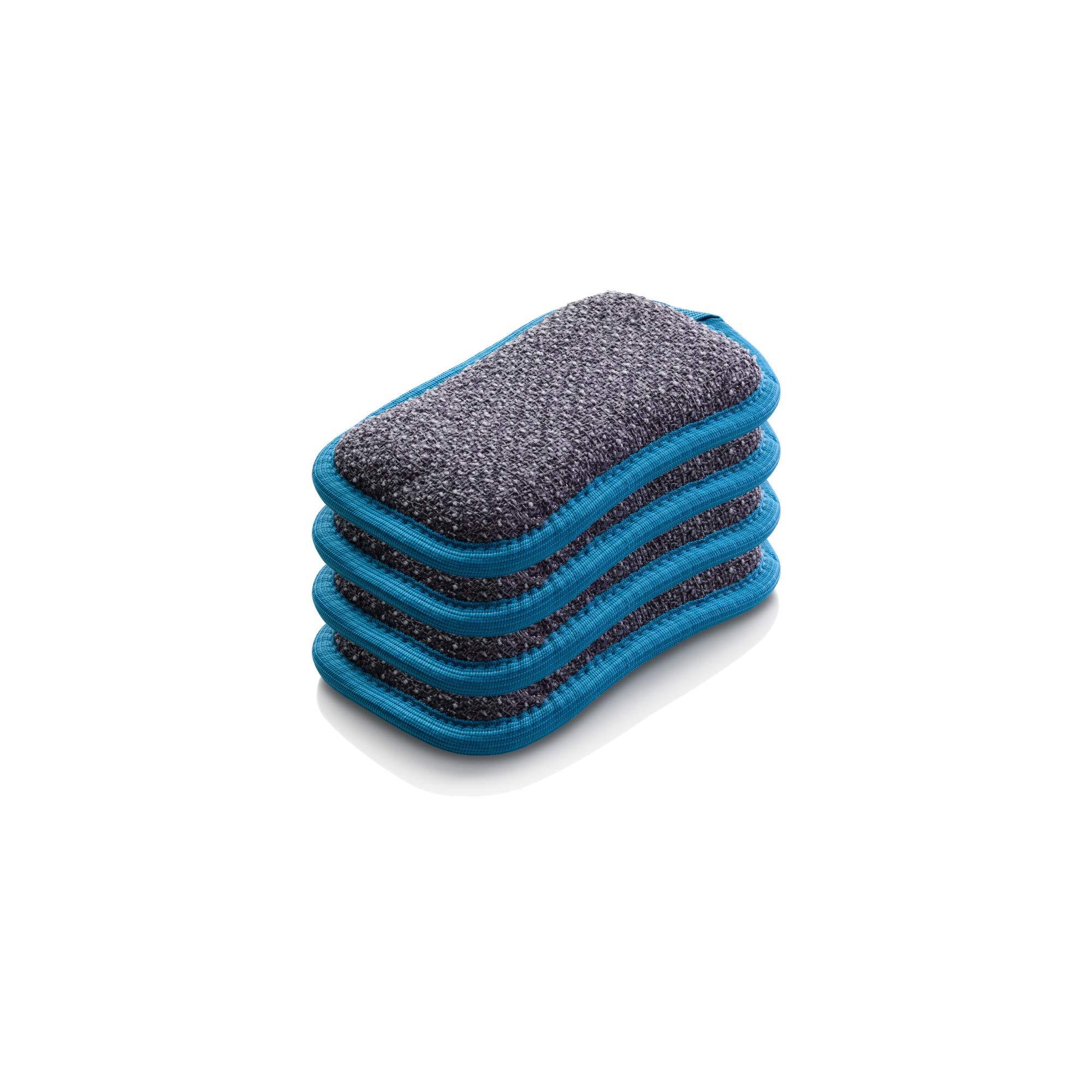 E-Cloth Microfiber Dual Purpose Washing Up Pad, Blue, 4 Count by E-Cloth