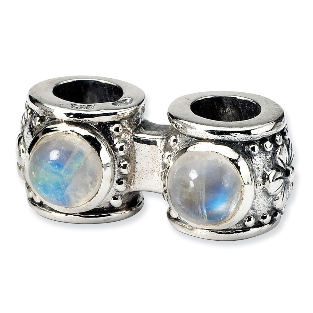 Beautiful Sterling silver 925 sterling Sterling Silver Reflections Moonstone Connector Bead