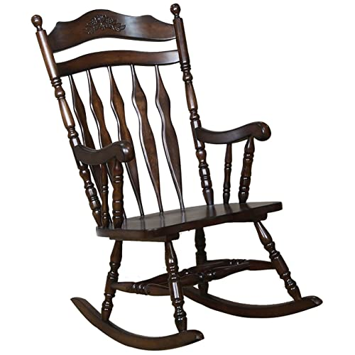 Windsor Rocking Chair Medium Brown