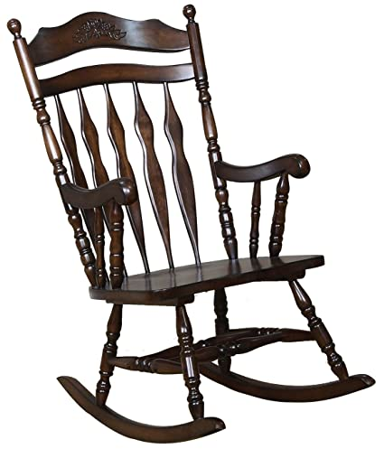 Attirant Coaster Traditional Medium Brown Wood Rocking Chair