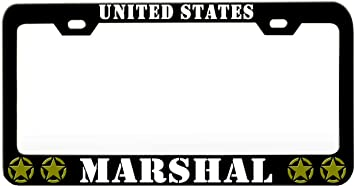 United States Army Metal Auto License Plate Frame Car Tag Holder