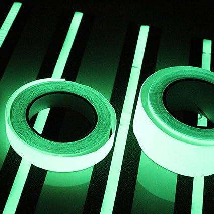 /10/m 10/mm luminous ruban adh/ésif phosphorescent en s/écurit/é Stage D/écorations dint/érieur Marque populaire//&n Bande r/éfl/échissante brillent dans le noir ruban adh/ésif/