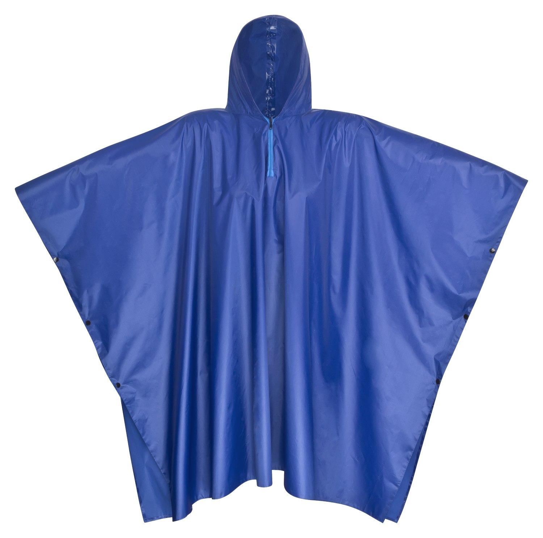 Premium pioggia Poncho blu 100% impermeabile con cappuccio–Perfetto come pioggia giacca per Festival, Camping, Ciclismo, Escursionismo–One Size Fits All–Uomo–Donna NOOKIES