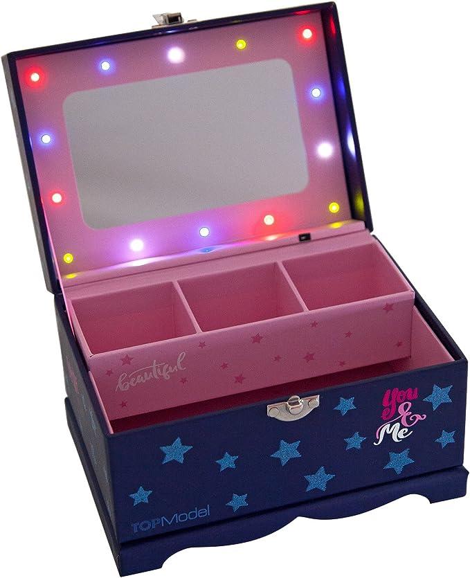 Depesche 2336 – joyero Top Model con luz, Azul: Amazon.es: Juguetes y juegos