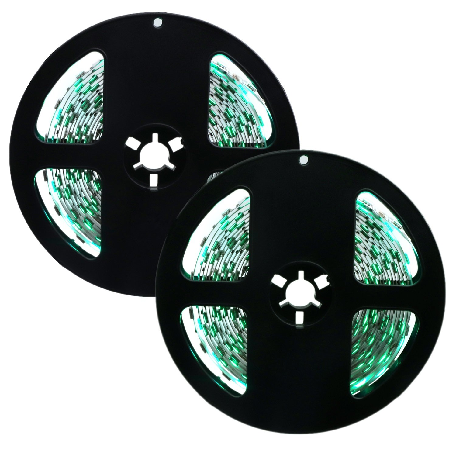 Green LL 1PCS 10M(2x5M) 72Watts 300LED 5050SMD NO-Waterproof Scandalmongering Green Red Normal Brightness Whippy LED Light Bar Strip (DC 12V) (color   Green)