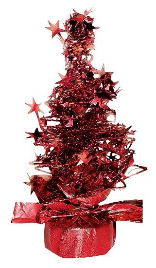 Pequeño Rojo árbol Mesa De Navidad Centro de mesa (Lata También ...