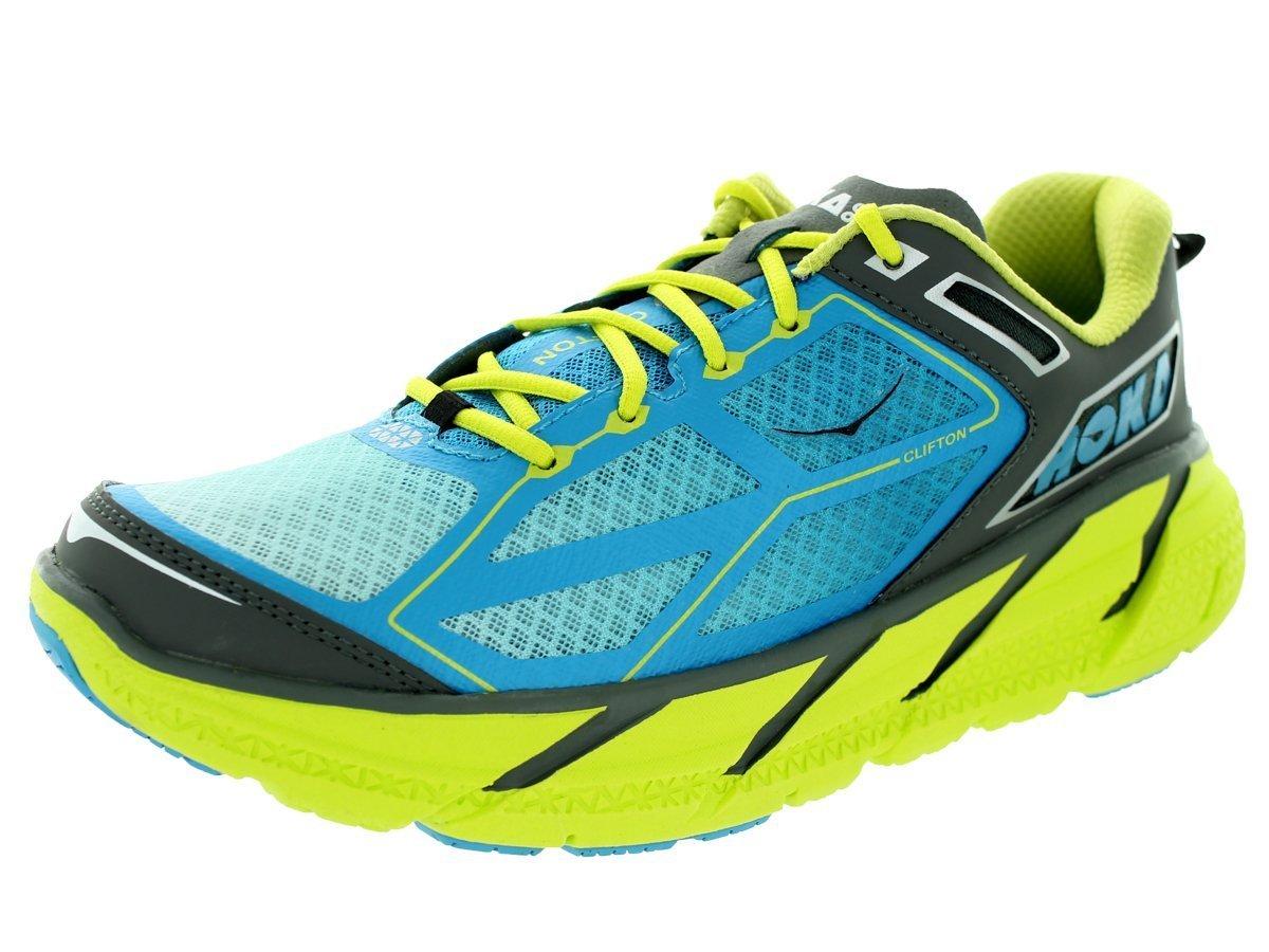 Hoka Clifton Shoe Mens - Citrus/Cyan/Grey Size 11.5