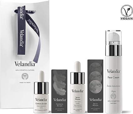 Pack Cosmética Woman (3ref.) Velandia® Crema facial 50ml. - Serum Woman 30ml. - Contorno de Ojos 15ml.: Amazon.es ...
