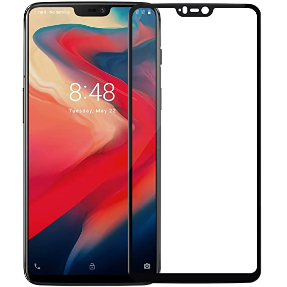 reputable site c3827 c3800 Oneplus 6 Screen Protector, Nillkin [CP+ Series] [2.5D Curved Edge-Full  Coverage] Oleophobic Coating Tempered Glass Screen Protector for Oneplus 6