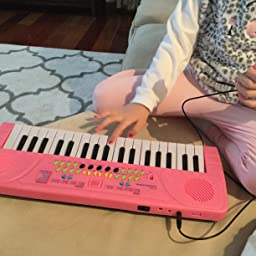 Amazon Com Aperfectlife Piano For Kids 37 Key Multi Function Electronic Keyboard Piano Play Kids Piano Organ Pink Toys Games
