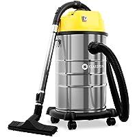 Klarstein IVC Aspiradora Industrial • Aspiración Seca y húmeda • Sin Bolsa • Largo Alcance • Accesorios • Amarillo metálico