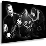 Bilder Kunstdrucke / Boikal / Leinwand Bild mit Keilrahmen Metallica - James Hetfield 100x70 cm xxl.582