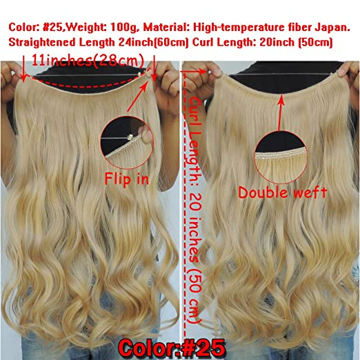 Amazon secret halo hair extensions flip in curly wavy hair amazon secret halo hair extensions flip in curly wavy hair extension synthetic women hairpieces 20 golden blonde 25 beauty solutioingenieria Images