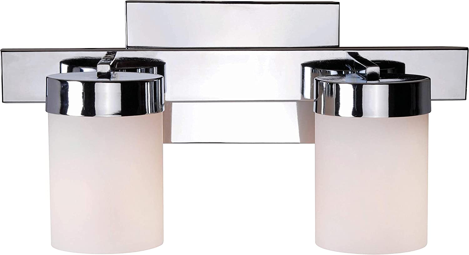 Kenroy Home Contemporary 2 Light Vanity 6 Inch Ext 17 Inch Width 9 Inch Height Chrome Finish Finish