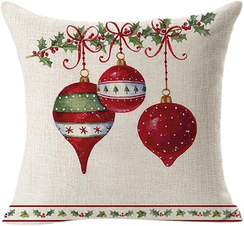 Federe Cuscini Natale.Baohooya Federe Natale Divano Stampa Natale Cuscino Caso Divano