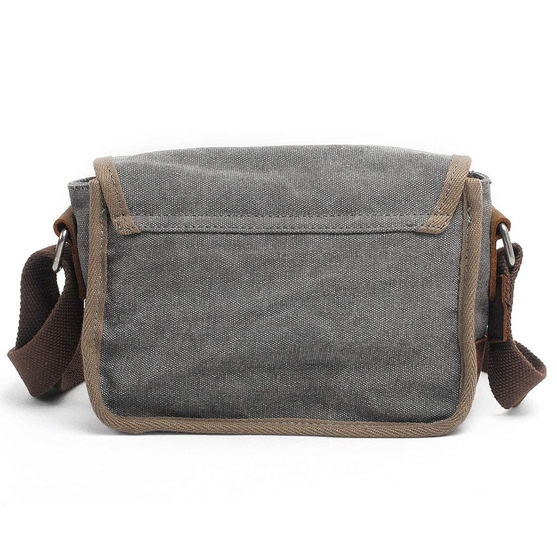 AIYAMAYA Mens Bag Messenger Bag Canvas Shoulder Bags Travel Bag Man Purse Crossbody Bags for Work Business