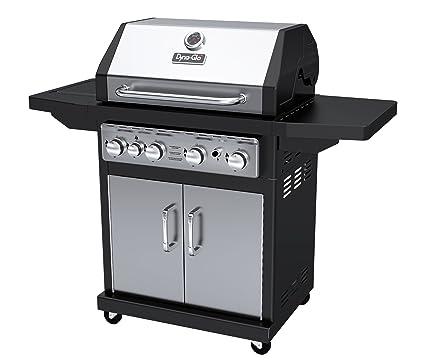 Dyna-Glo Black & Stainless Premium Grills, 4 Burner, Liquid Propane Gas