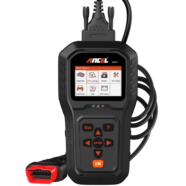 ANCEL AD510 Enhanced Vehicle OBD2 Scanner Check Engine Light Diagnostic Code Reader Full OBD Modes Car Scan Tool with Battery Voltage Test