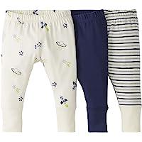 Moon and Back de Hanna Andersson - Pack de 3 pantalones de chándal de algodón orgánico para bebé