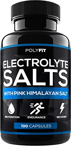 Electrolyte Salt Tablets – 100 Pills – Electrolytes Replacement Supplement for Rapid Hydration