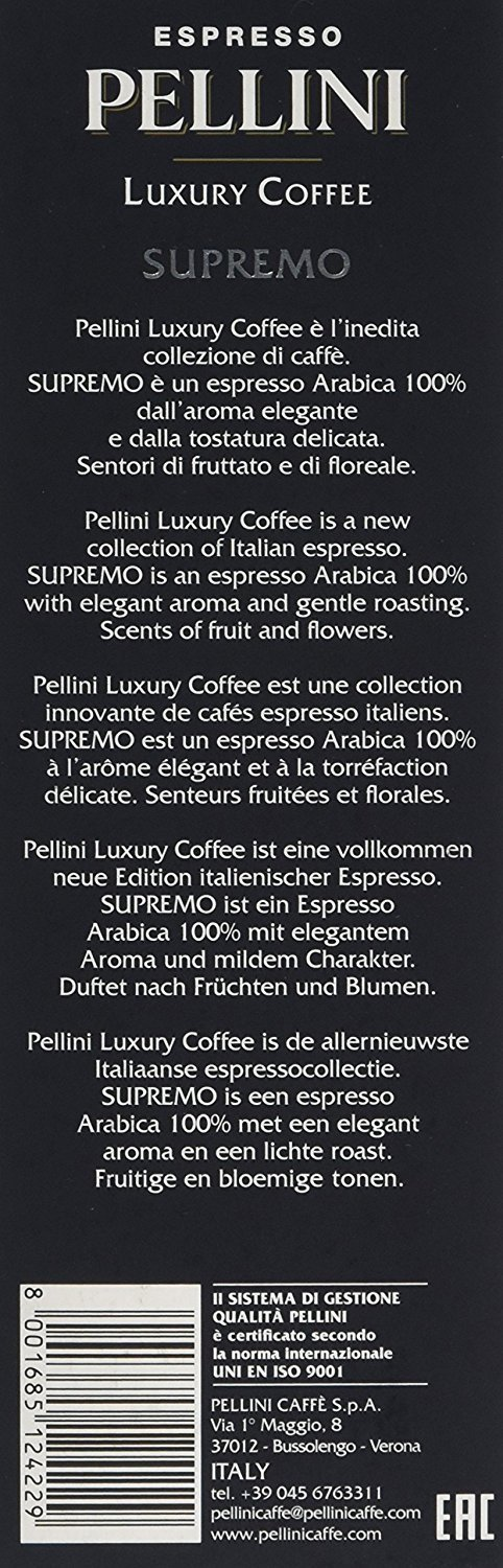 Amazon.com : Nespresso Compatible Capsules - Pellini Luxury Coffee Supremo - 20 Capsules : Grocery & Gourmet Food