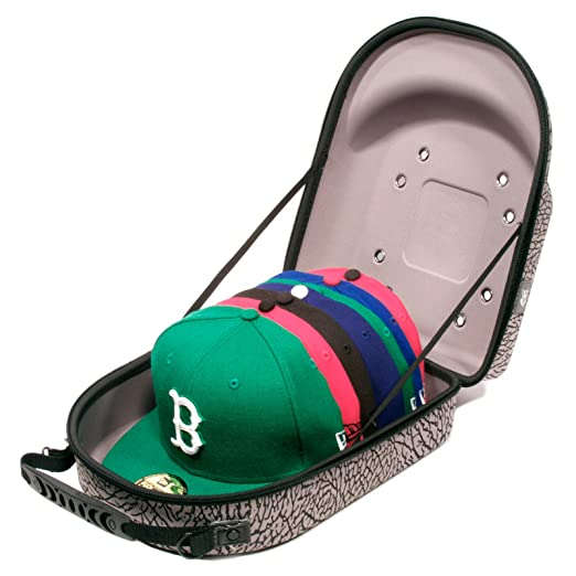 2950bfd85 Homiegear Brand Carrier Case - 6 Hats for New Era Caps, Snap Back, Fitted  (Elephant)